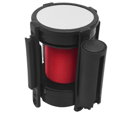vidaXL Avspärrningsband 200 cm röd
