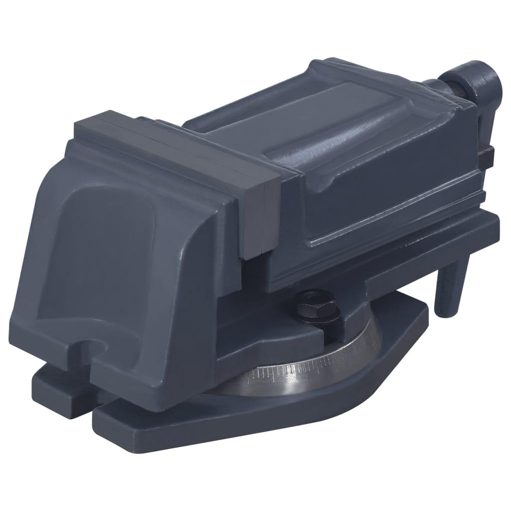 vidaXL Bankschroef draaibaar 100 mm gietijzer