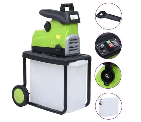vidaXL Elektryczna rozdrabniarka ogrodowa z pojemnikiem, 2800 W