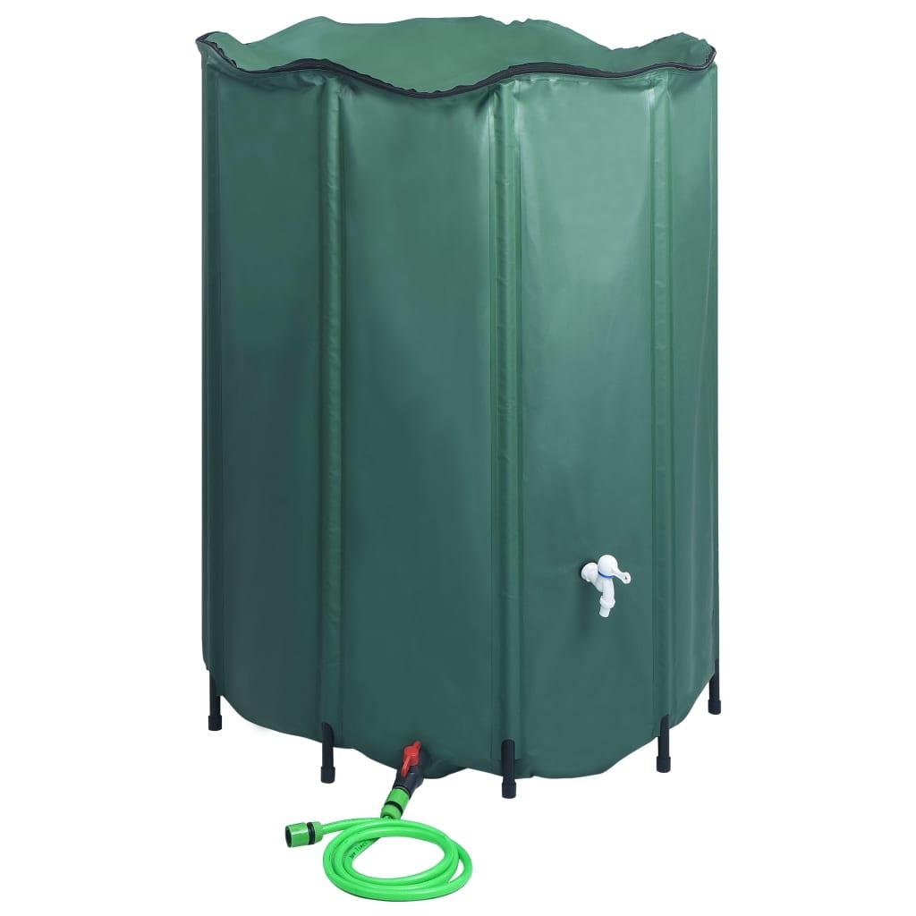 vidaXL Rezervor de apă de ploaie rabatabil cu cep, 1250 L poza 2021 vidaXL