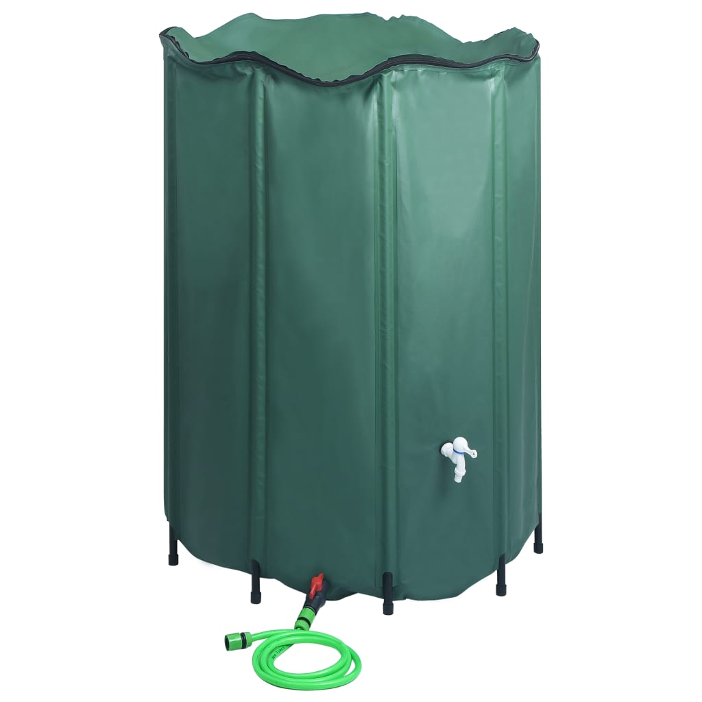 vidaXL Rezervor de apă de ploaie pliabil cu cep, 1500 L poza 2021 vidaXL