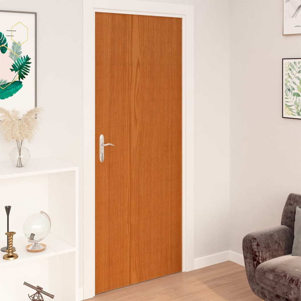 vidaXL Folii de ușă autoadezive, 2 buc, stejar deschis, 210x90 cm, PVC imagine vidaxl.ro
