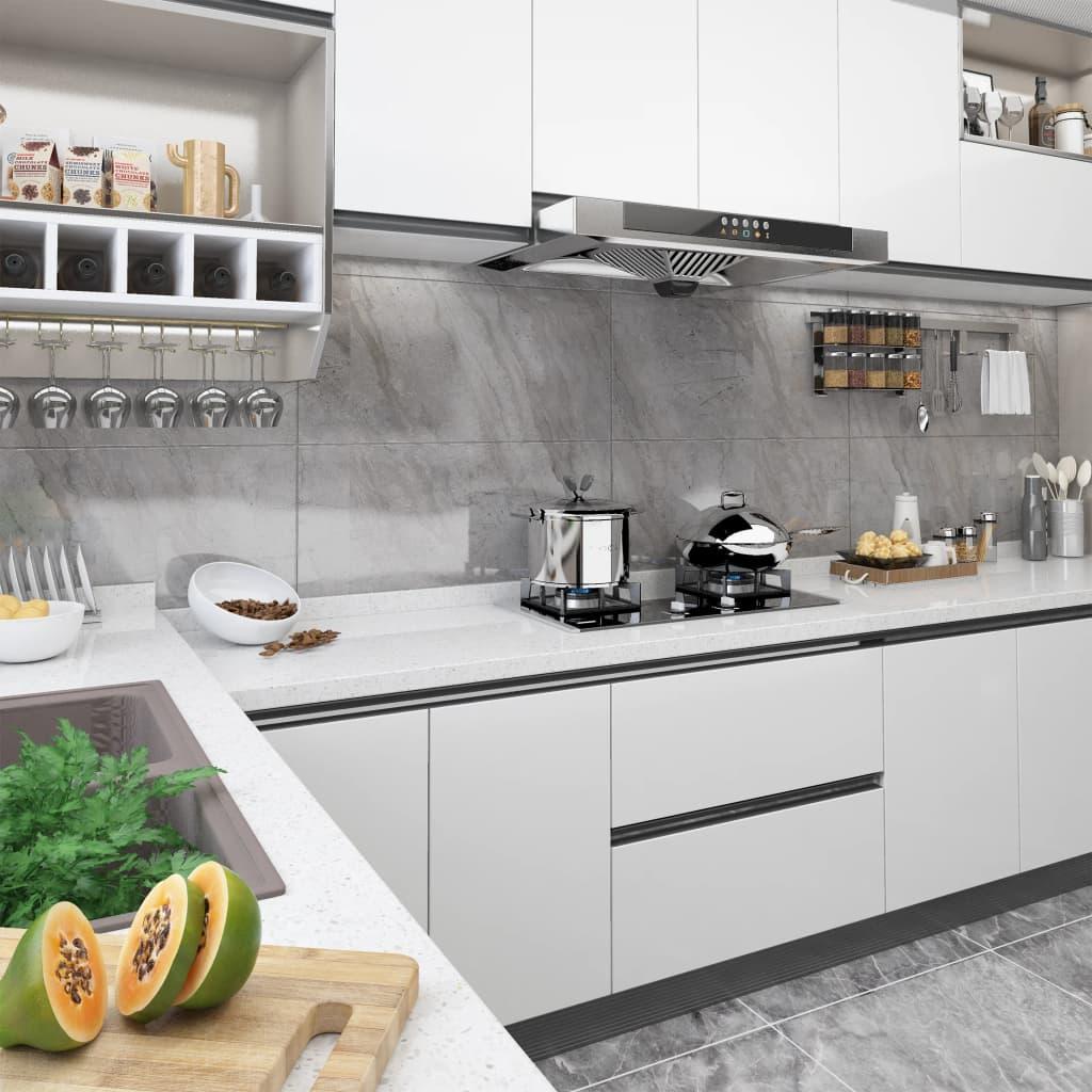 vidaXL Folie de mobilier autoadezivă, alb, 500 x 90 cm, PVC vidaxl.ro
