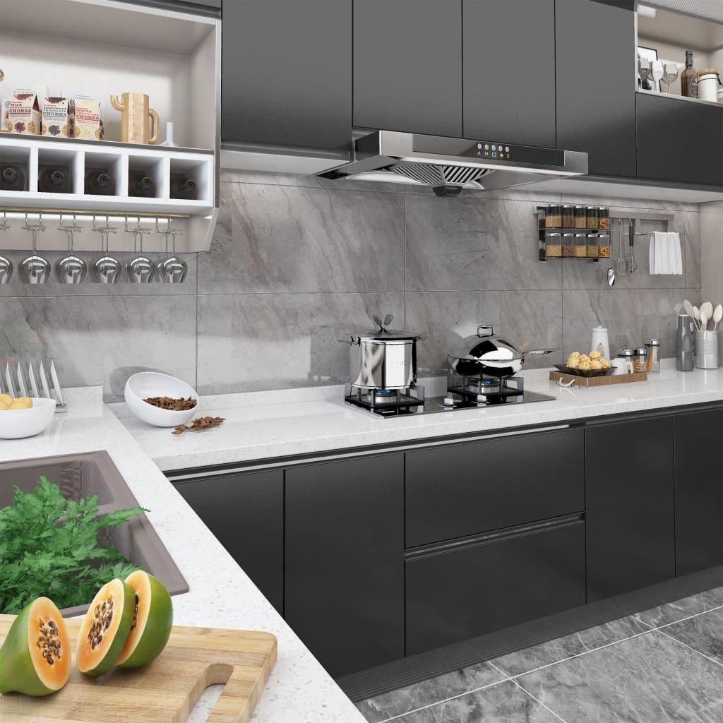 vidaXL Folie de mobilier autoadezivă, negru, 500 x 90 cm, PVC imagine vidaxl.ro