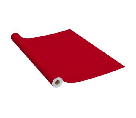 vidaXL Film autoadhésif pour meubles Rouge 500x90 cm PVC