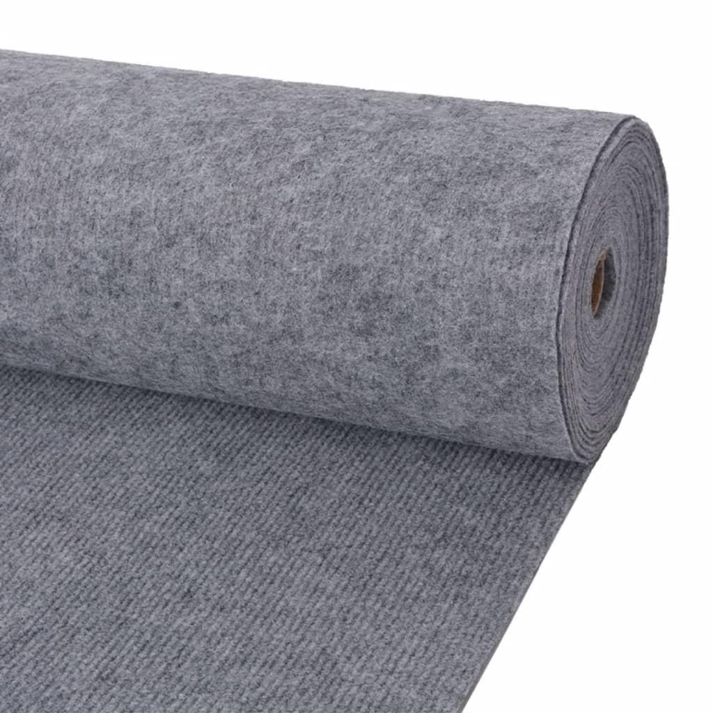 vidaXL Výstavářský koberec vroubkovaný 1,6 x 20 m šedý