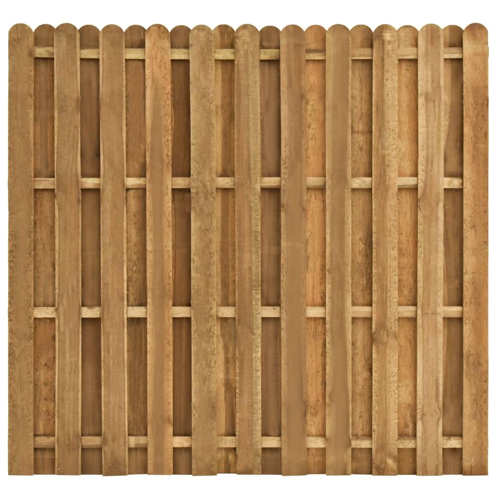 vidaXL Panou de gard cu șipci alternative 180 x 170 cm lemn pin imagine vidaxl.ro