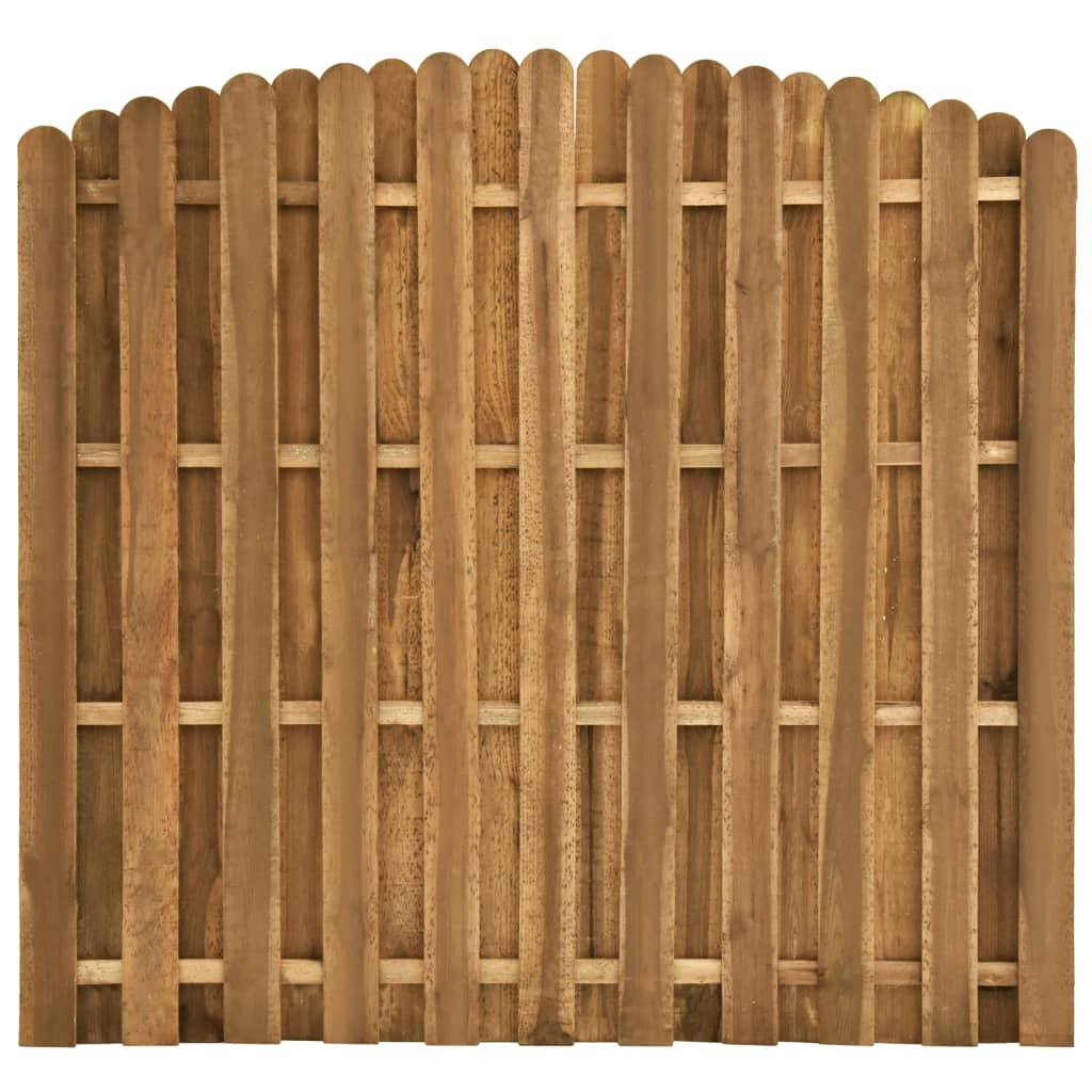 vidaXL Hit and Miss Fence Panel Pinewood 180x(155170) cm