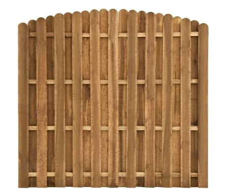vidaXL Panel za ogradu od borovine 180 x (155 - 170) cm