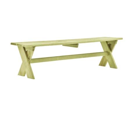vidaXL Zahradní lavice 170 cm impregnované borové dřevo