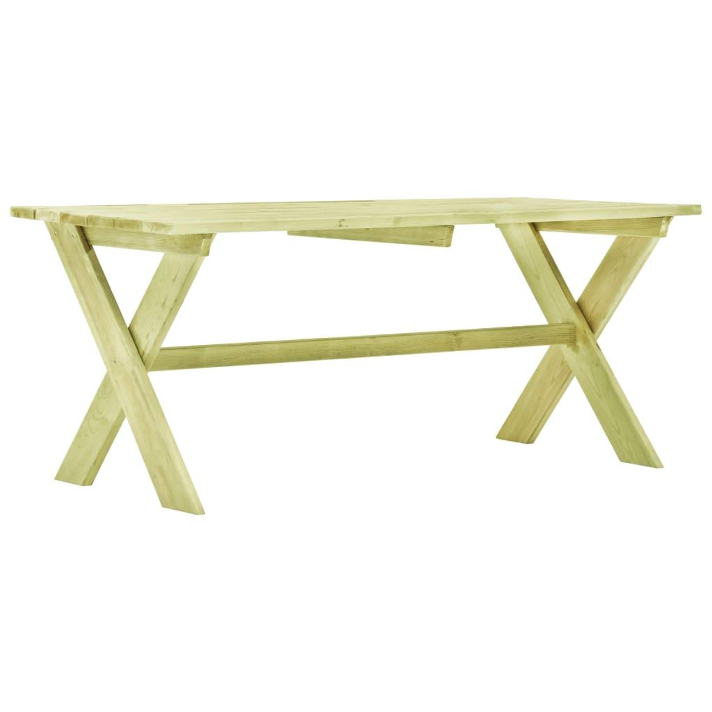 vidaXL Stół ogrodowy, 170x73x70 cm, impregnowana sosna