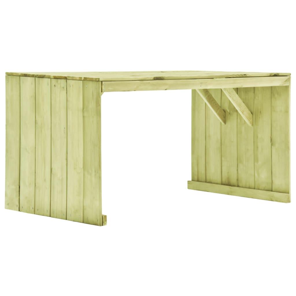 vidaXL Stół ogrodowy, 150x87x80 cm, impregnowana sosna