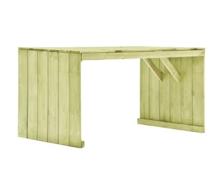 vidaXL Masă de grădină, 150 x 87 x 80 cm, lemn de pin tratat