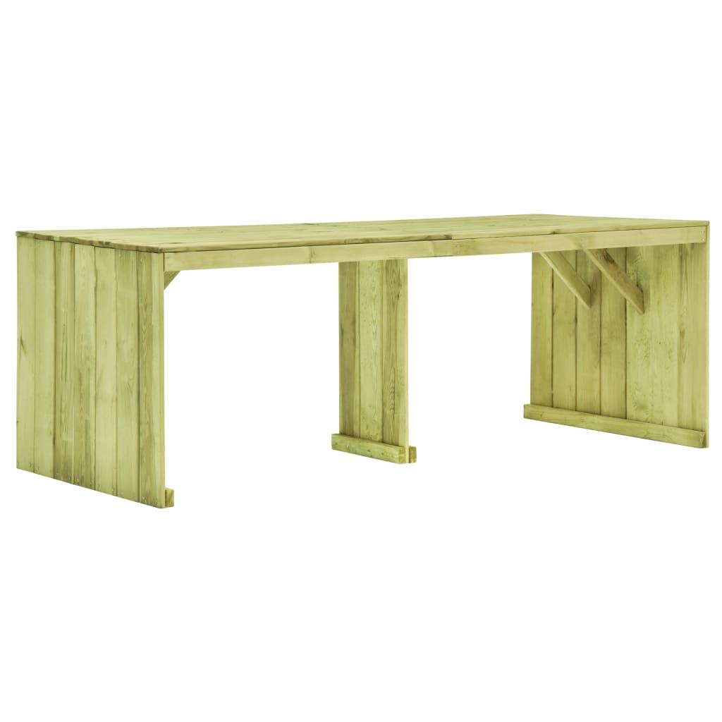 vidaXL Stół ogrodowy, 220 x 101,5 x 80 cm, impregnowana sosna
