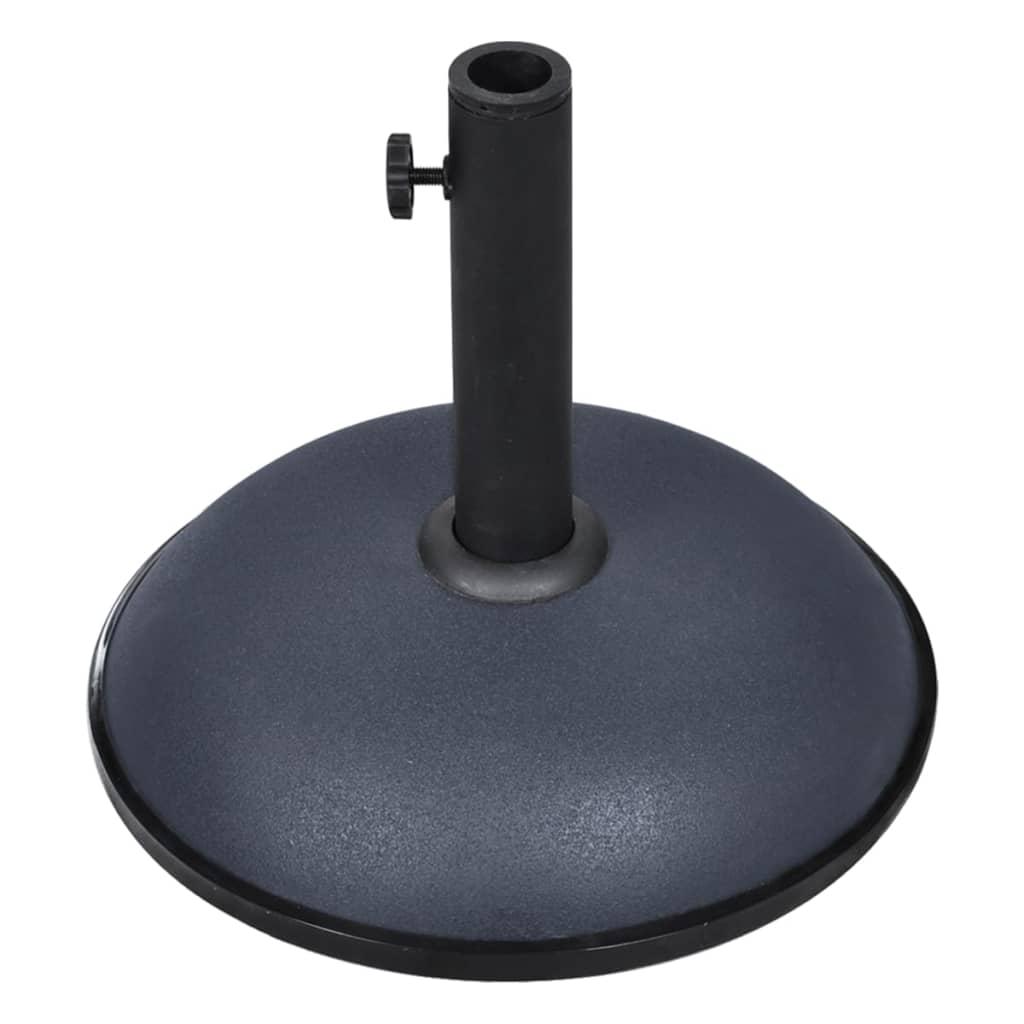 vidaXL Suport umbrelă de soare, gri închis, 11 kg, oțel și ciment imagine vidaxl.ro