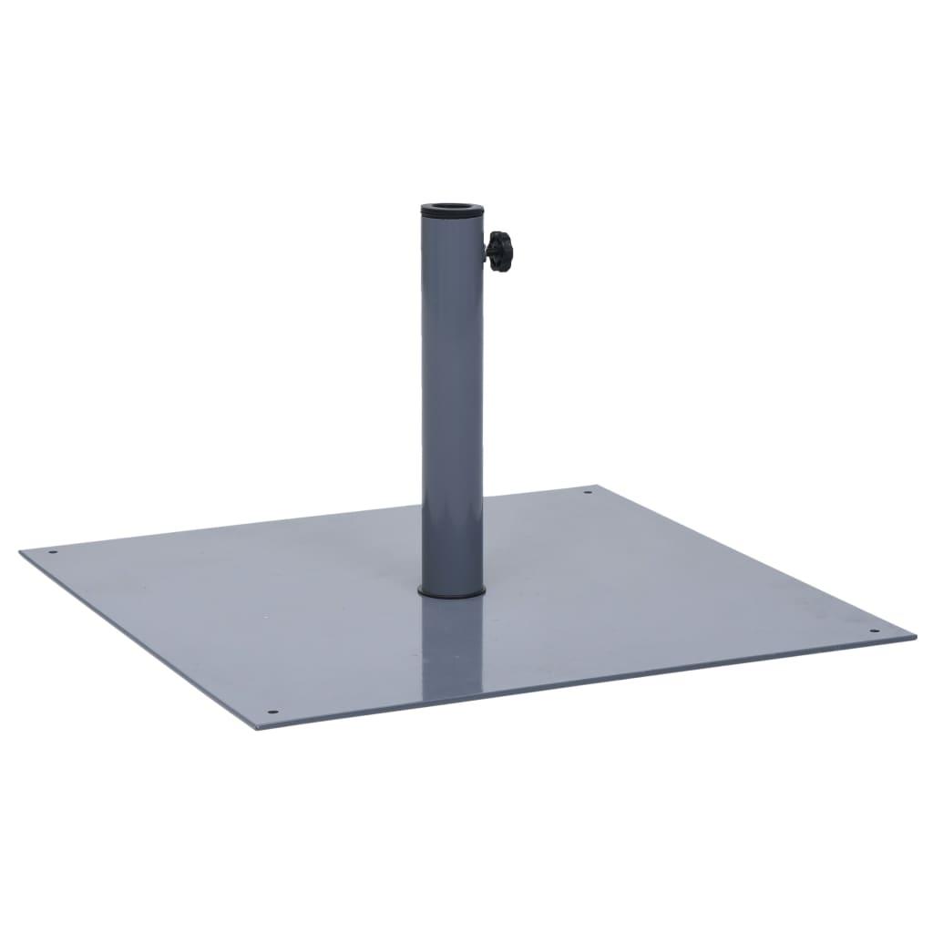 vidaXL Suport de umbrelă de soare, gri închis, oțel, pătrat, 17 kg imagine vidaxl.ro