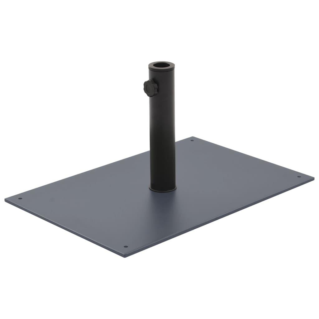 vidaXL Suport de umbrelă de soare, 15 kg, gri închis, oțel imagine vidaxl.ro