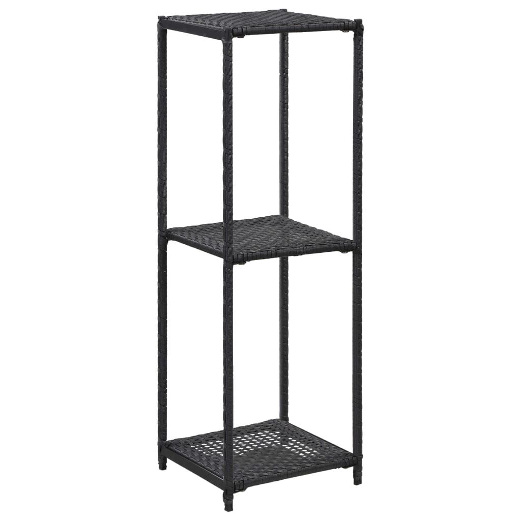 vidaXL Raft de depozitare, negru, 30 x 30 x 90 cm, poliratan vidaxl.ro