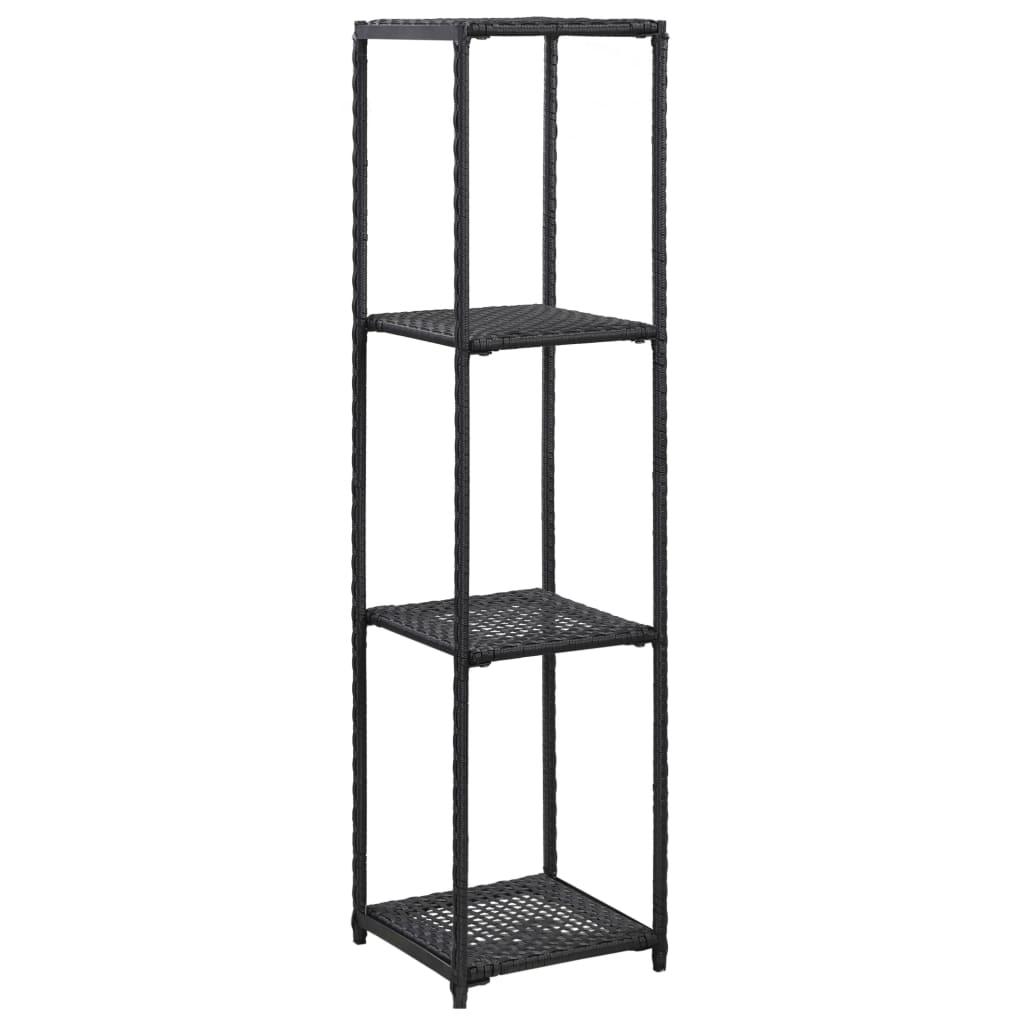 vidaXL Raft de depozitare, negru, 30 x 30 x 120 cm, poliratan vidaxl.ro