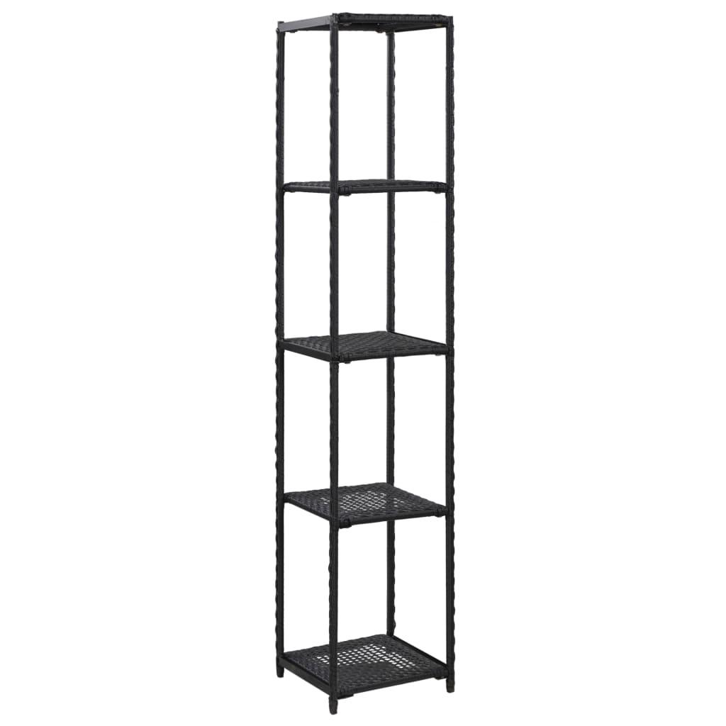vidaXL Raft de depozitare, negru, 30 x 30 x 150 cm, poliratan vidaxl.ro