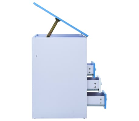vidaXL Bureau pour enfants Inclinable Bleu et blanc[5/11]