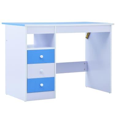 vidaXL Bureau pour enfants Inclinable Bleu et blanc[3/11]