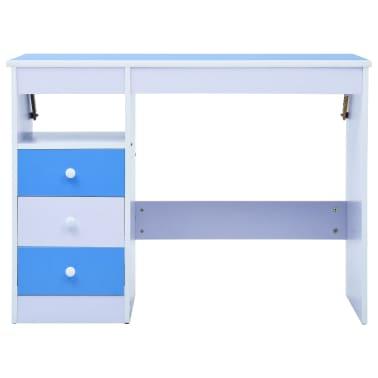 vidaXL Bureau pour enfants Inclinable Bleu et blanc[4/11]