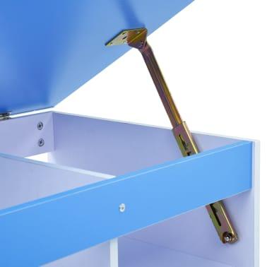 vidaXL Bureau pour enfants Inclinable Bleu et blanc[8/11]