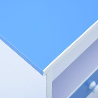 vidaXL Bureau pour enfants Inclinable Bleu et blanc[10/11]