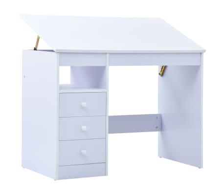 vidaXL Skrivbord för barn lutbart vit