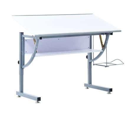 vidaXL Ritbord för tonåringar vit 110x60x87 cm MDF