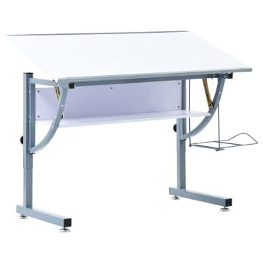 vidaXL Table à dessin pour adolescents Blanc 110x60x87 cm MDF[1/12]
