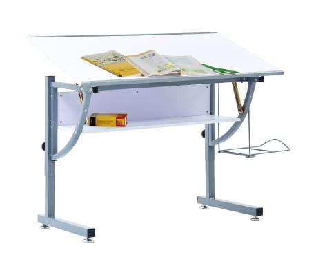 vidaXL Table à dessin pour adolescents Blanc 110x60x87 cm MDF[2/12]