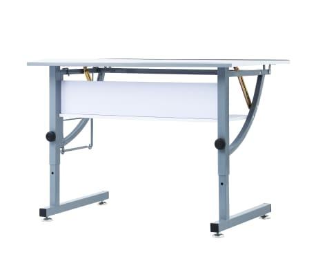 vidaXL Table à dessin pour adolescents Blanc 110x60x87 cm MDF[8/12]
