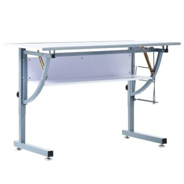 vidaXL Table à dessin pour adolescents Blanc 110x60x87 cm MDF[3/12]