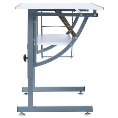 vidaXL Table à dessin pour adolescents Blanc 110x60x87 cm MDF[5/12]