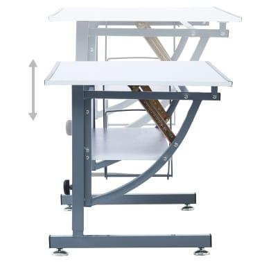 vidaXL Table à dessin pour adolescents Blanc 110x60x87 cm MDF[6/12]