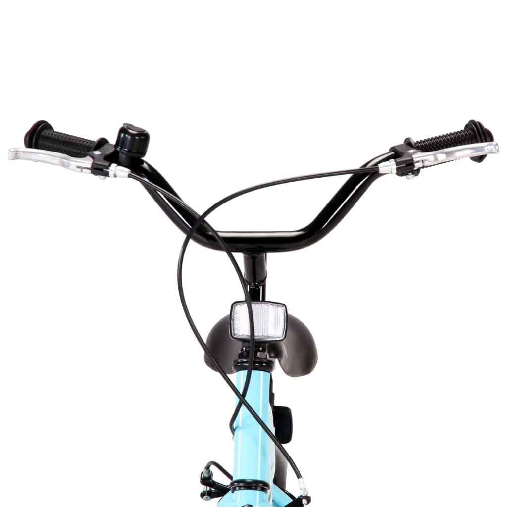 vidaXL Kinderfiets 16 inch zwart en blauw