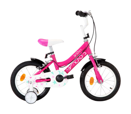 vidaXL Kids Bike 14 inch Black and Pink