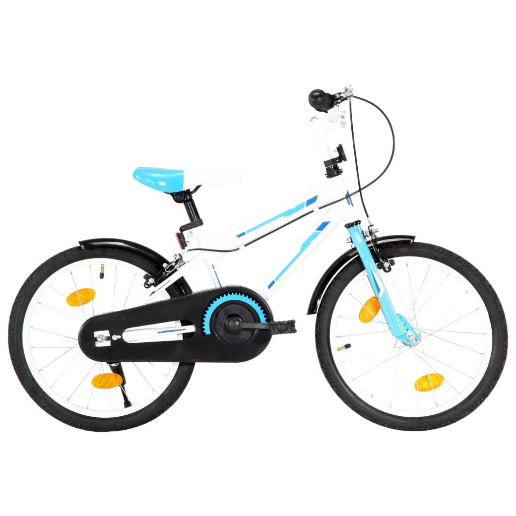 vidaXL Dětské kolo 18'' modro-bílé