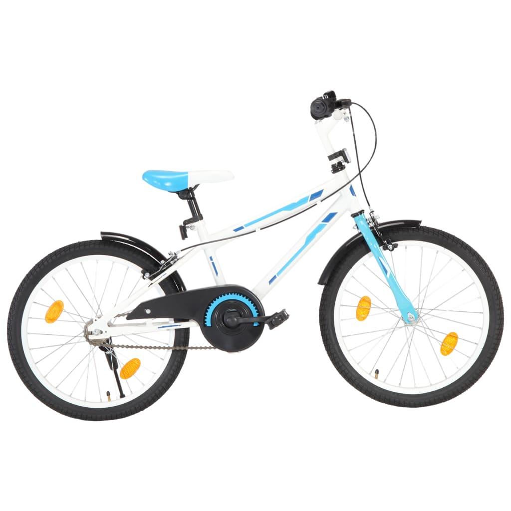 vidaXL Bicicletă pentru copii, albastru și alb, 20 inci imagine vidaxl.ro
