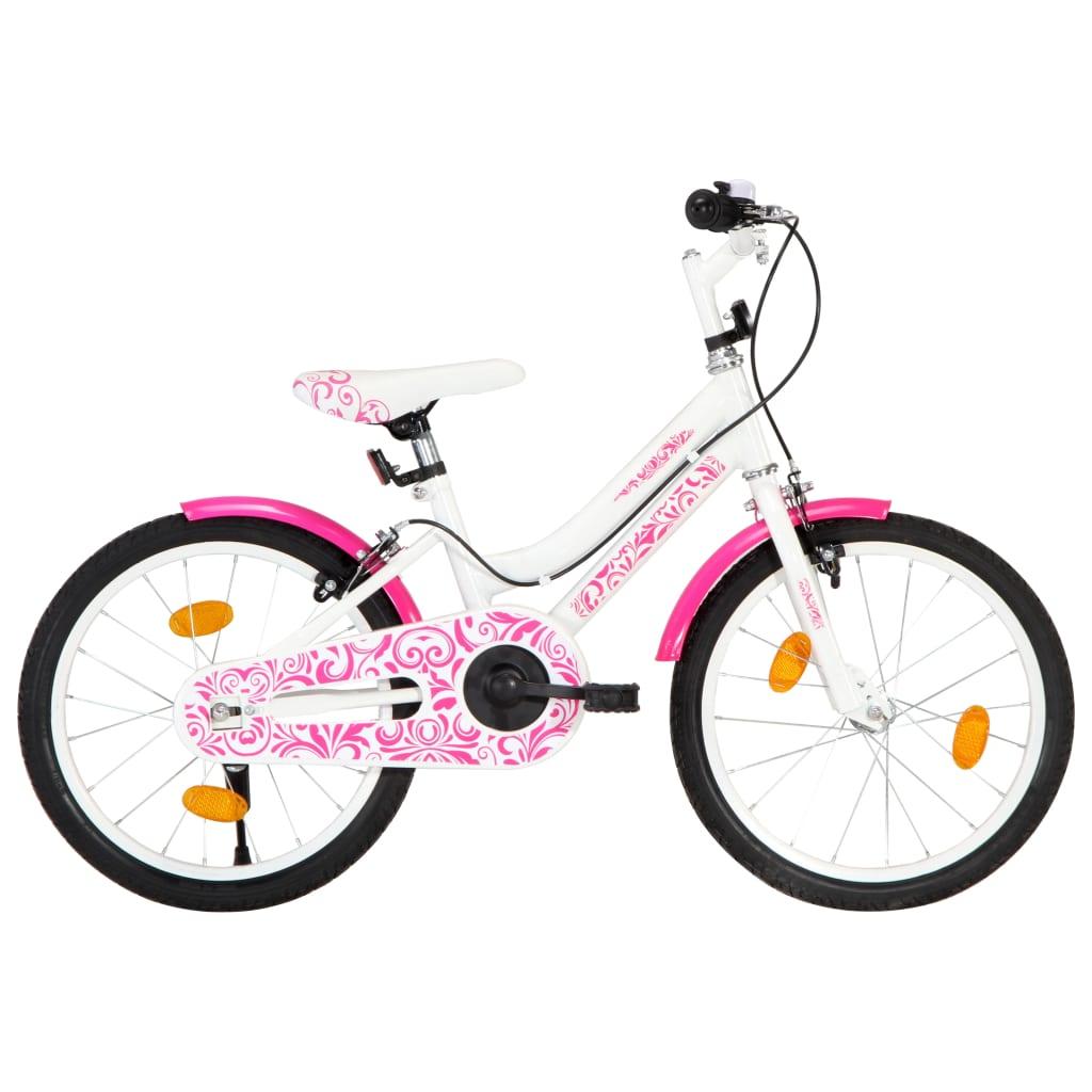 vidaXL Dětské kolo 18'' růžovo-bílé