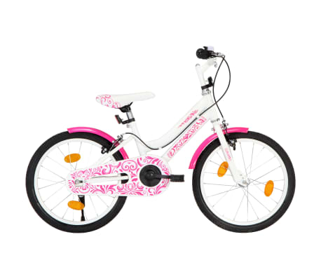 vidaXL Kids Bike 18 inch Pink and White -picture
