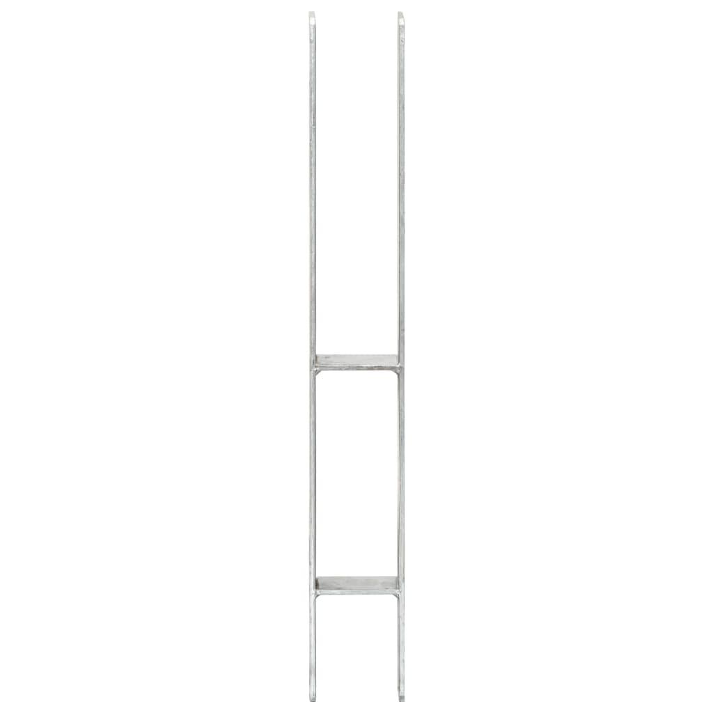 vidaXL Grondankers 2 st 7x6x60 cm gegalvaniseerd staal zilverkleurig