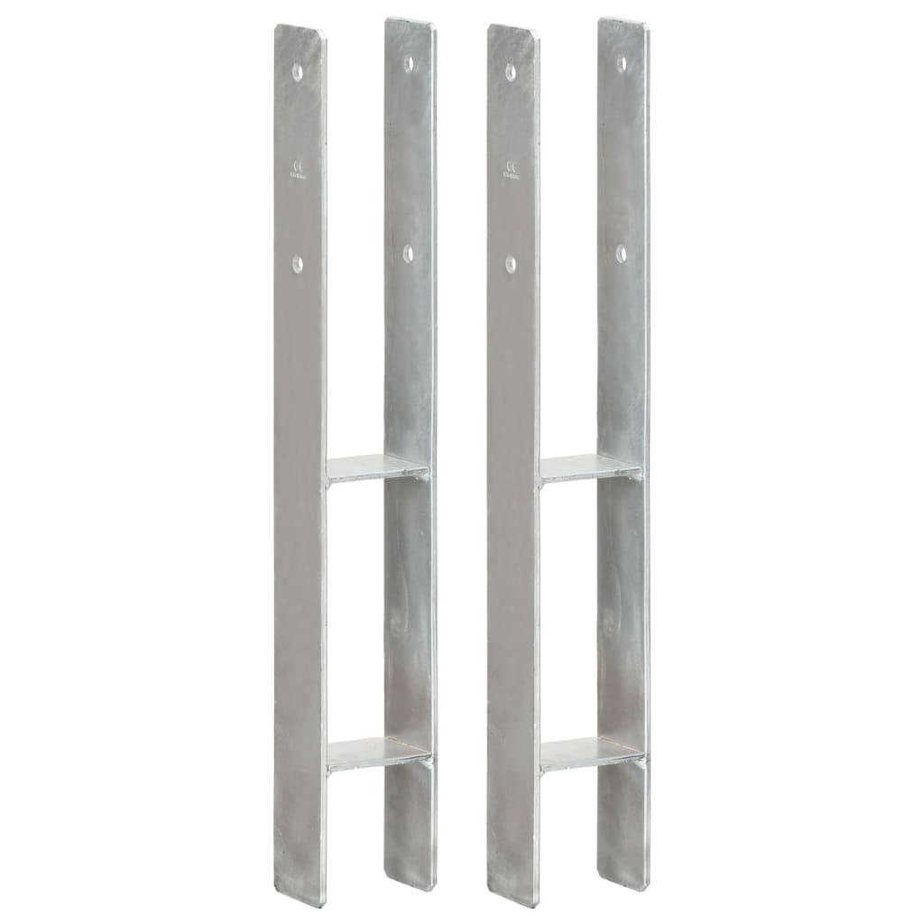 vidaXL Ancore de gard, 2 buc., argintiu, 8x6x60 cm, oțel galvanizat vidaxl.ro