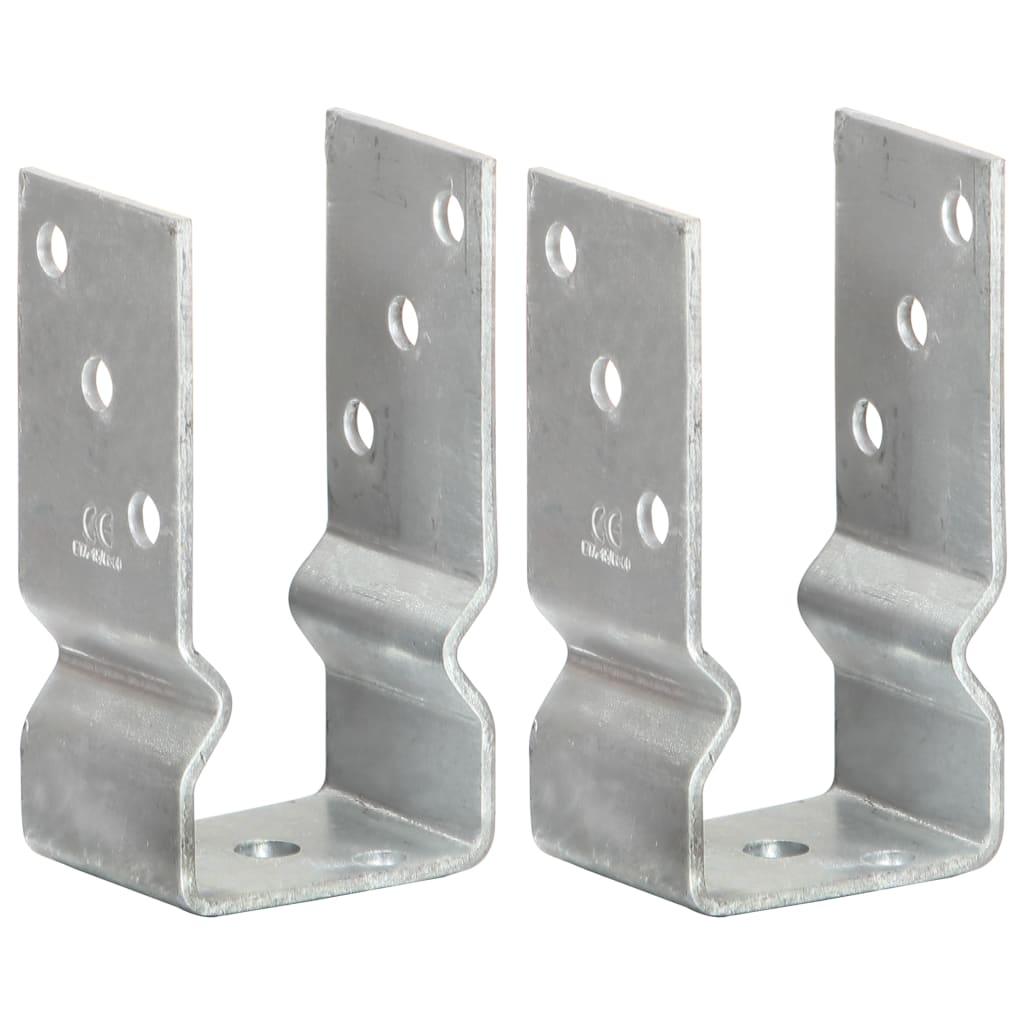 vidaXL Ancore de gard, 2 buc., argintiu, 7x6x15 cm, oțel galvanizat vidaxl.ro