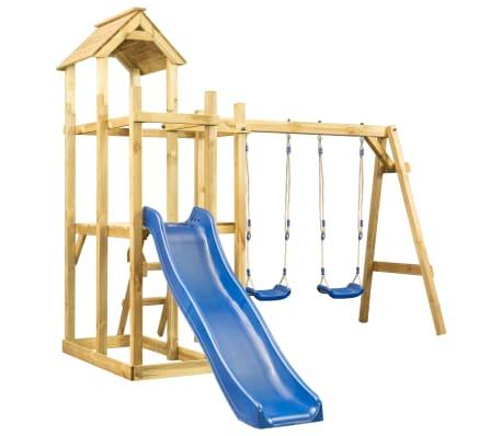 vidaXL Speelhuis met glijbaan, schommel en ladder 285x305x226,5 cm