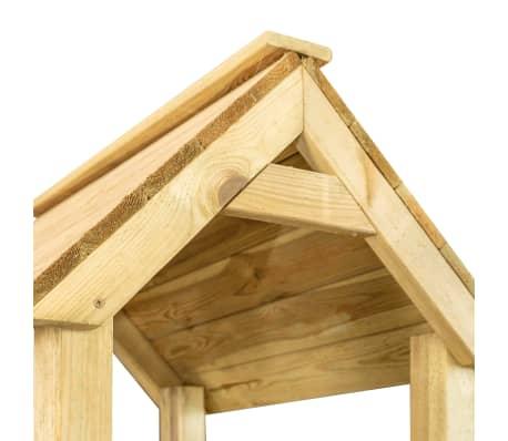 vidaXL Casa de brincar com escorrega baloiço e escada 285x305x226,5 cm