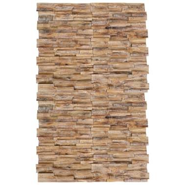 vidaXL 3D sienos apdailos plokštės, 20vnt., 2m², tikmedžio med. mas.[1/6]