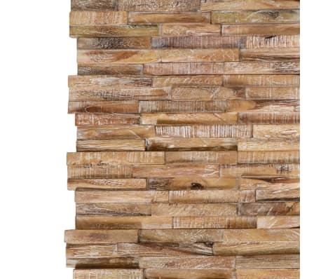vidaXL 3D sienos apdailos plokštės, 20vnt., 2m², tikmedžio med. mas.[3/6]